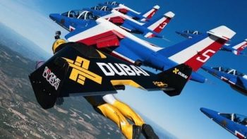 Human Jetpack Pilots Join Fighter Jet Formation