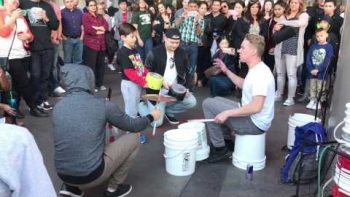 "Watch Insane Street Performer ""Bucket Boy"" Matthew Pretty"