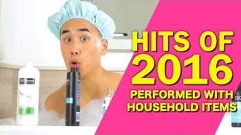 Hit Songs Of 2016 Played On Household Items