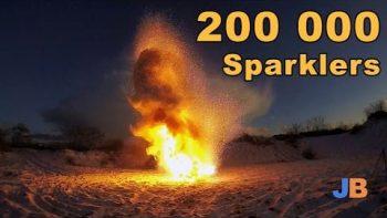 200,000 Sparklers Burnin At The Same Time