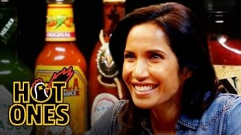 Padma Lakshmi Gracefully Destroys Spicy Wings