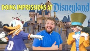 Brian Hull Does Impressions To Characters At Disneyland
