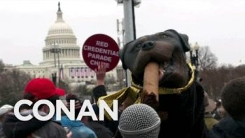 Triumph The Insult Comic Dog Attends Trump's Inauguration