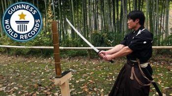 Martial Arts Master Attempts Katana World Record