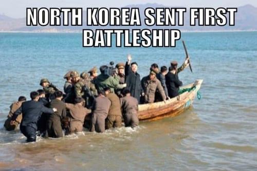 North Korea sent first battleship