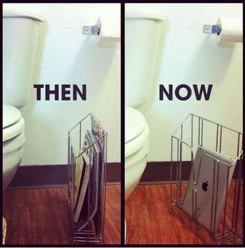 Toilet Reading – Then vs Nowx