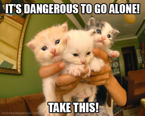 It's dangerous to go alone – Take this