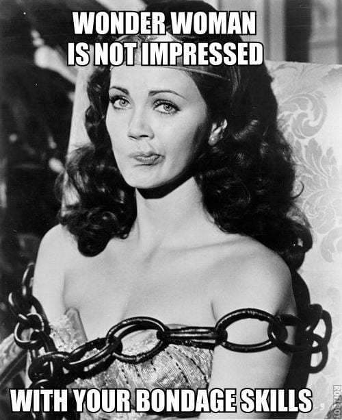 Wonder Woman is not impressed