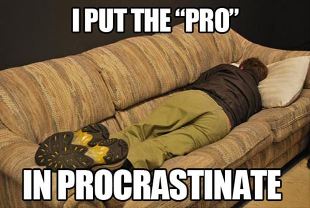 I put the pro in Procrastinate
