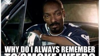 Snoop Dogg Always remembers to Smoke Weed