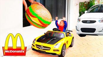 What Happens When A Child Superhero Wants A Hamburger