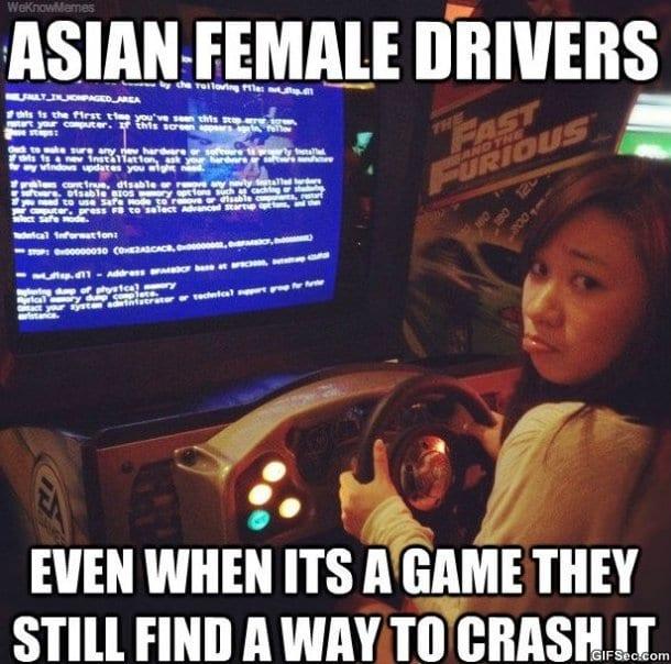Asian Female Drivers MEME