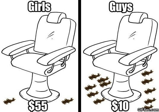 Barber shop – Guys vs. Girls