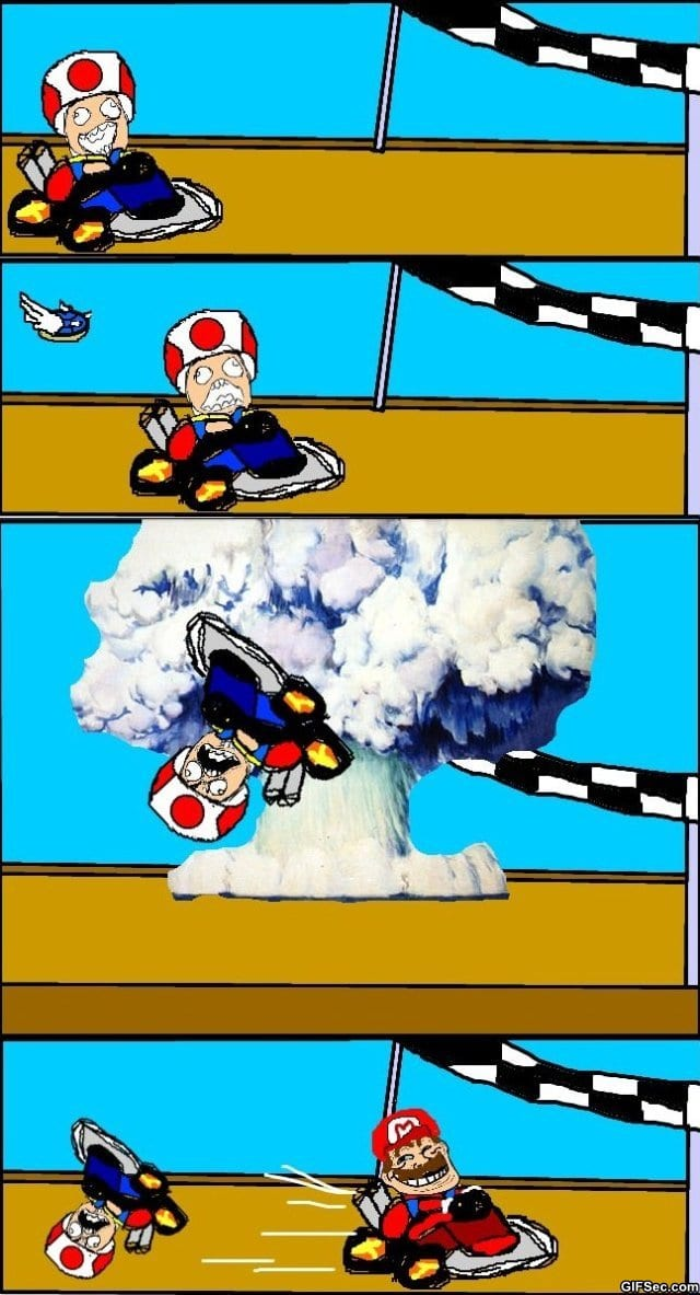 Everytime i play mario kart viral viral videos for Mario go fish