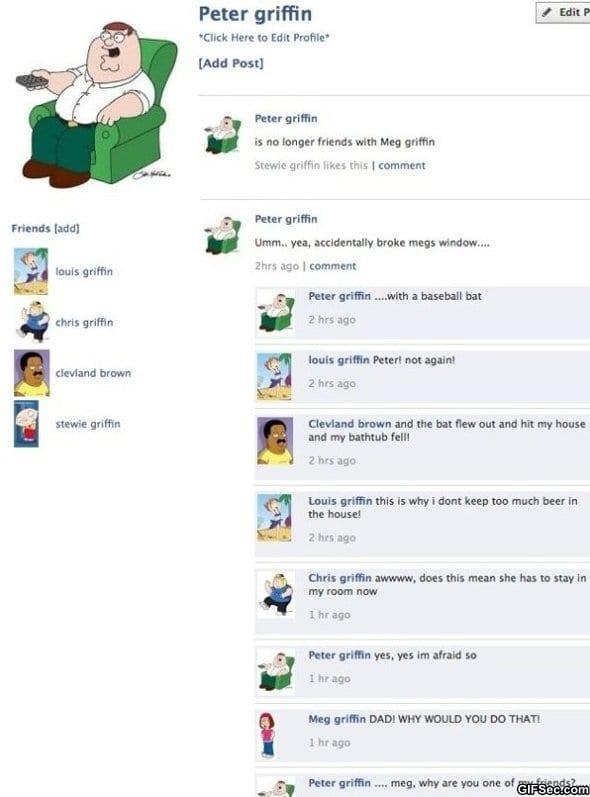 Family Guy on Facebook