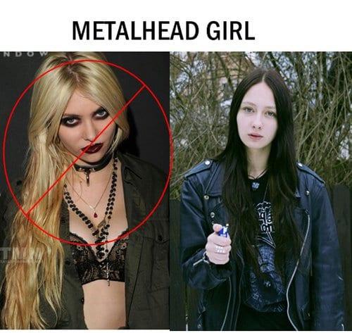 Metalhead girl in reality