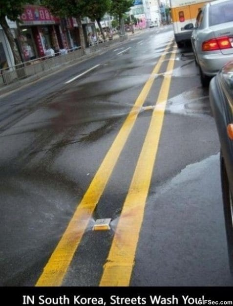 Self Cleaning Streets In Korea MEME
