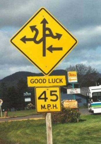 Weird road signs