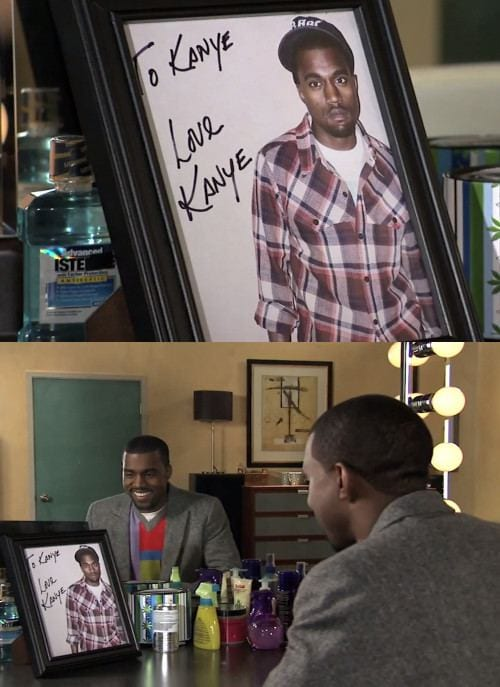 To Kanye, love Kanye