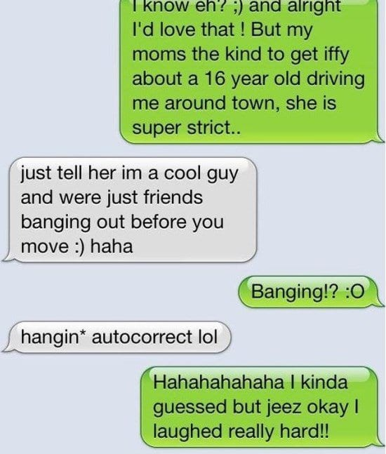 auto correct sms text message