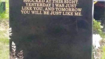 Gravestone Speaks Truth