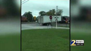 Train Crushes Truck