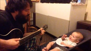 Dad Sings The Sweetest Song To Baby