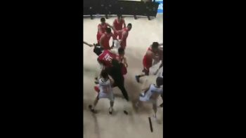 NBL China Mental Team Fight On The Court