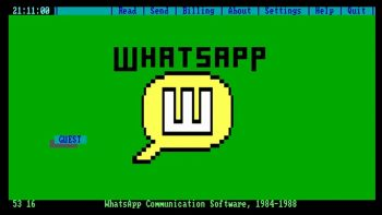 How WhatsApp Was Being Used In The '80s